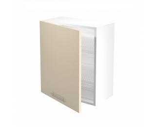 Horná kuchynská skrinka Vento GC-60/72 - biela / béžový vysoký lesk