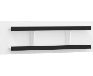 Polica Verin VRN-03 - biela / čierny lesk