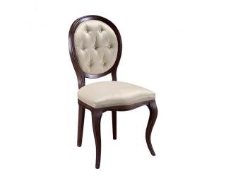 Rustikálna jedálenská stolička Krzeslo S1 - hnedá / béžová (B3 5058)
