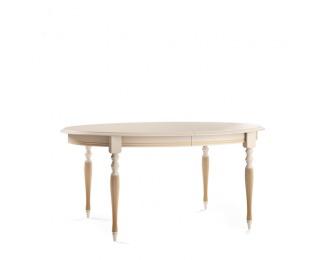 Rustikálny rozkladací jedálenský stôl Verona T-E - krém patyna