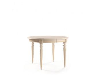 Rustikálny rozkladací jedálenský stôl Verona T-O - biela