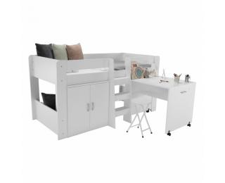 Viacúčelová detská posteľ s roštom Fany - biela