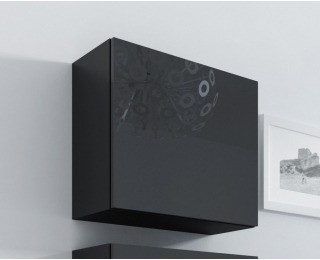 Skrinka na stenu Vigo 50 - čierna / čierny lesk