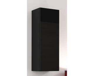 Skrinka na stenu Vigo 90 - čierna / čierny lesk
