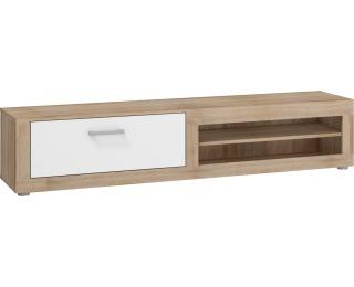 TV stolík Viki VIK-04 - sonoma svetlá / biely lesk