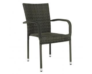 Záhradná stolička Vipana New - sivá