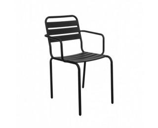 Záhradná stolička Vittorio - čierna