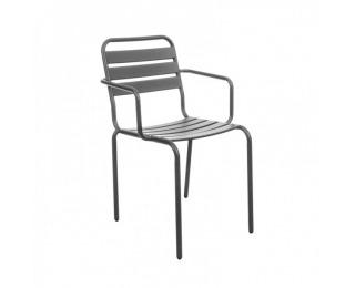 Záhradná stolička Vittorio - sivá