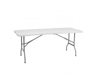 Cateringový skladací stôl Vivas 180x70 cm - sivá / biela