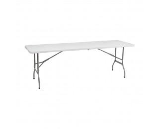 Cateringový skladací stôl Vivas 244x75 cm - sivá / biela