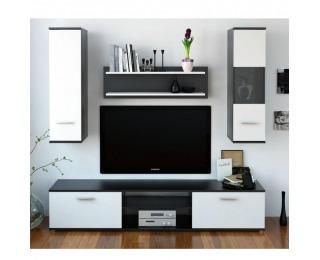 Obývacia stena Waw New - čierna / biela