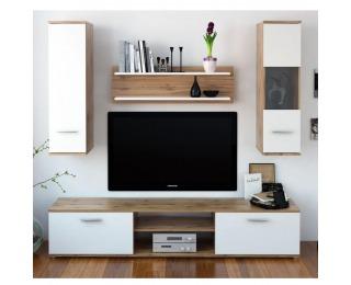 Obývacia stena Waw New - dub wotan / biela