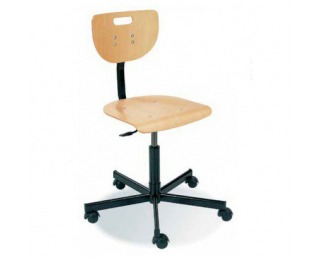 Otočná dielenská stolička na kolieskach Werek - buk