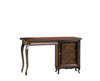 Rustikálny písací stôl Wersal W - wenge