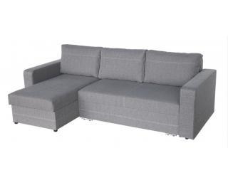 Rohová sedačka s rozkladom Aleksander L/P - šenil sivý (Portland 91)