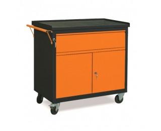 Dielenský vozík na kolieskach so zámkom WW01G/2B - grafit / oranžová