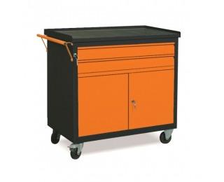 Dielenský vozík na kolieskach so zámkom WW01G/2C - grafit / oranžová
