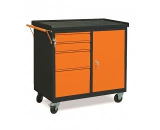 Dielenský vozík na kolieskach so zámkom WW01G/EA - grafit / oranžová