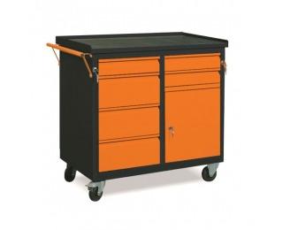 Dielenský vozík na kolieskach so zámkom WW01G/FC - grafit / oranžová