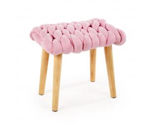 Taburetka Yeti - ružová / prírodná
