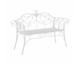 Záhradná lavička Etelia - biela