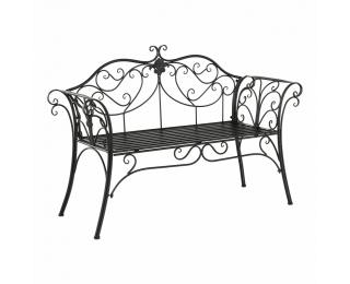 Záhradná lavička Etelia - čierna