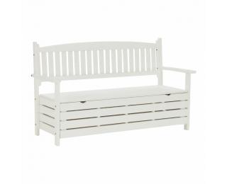 Záhradná lavička s úložným priestorom Amula 150 cm - biela
