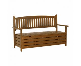 Záhradná lavička s úložným priestorom Amula 150 cm - hnedá