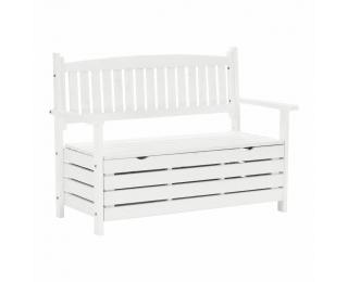 Záhradná lavička s úložným priestorom Dilka 124 cm - biela