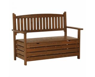 Záhradná lavička s úložným priestorom Dilka 124 cm - hnedá