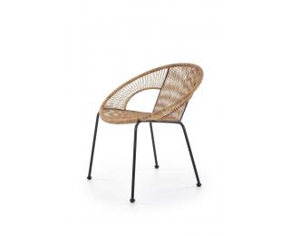 Záhradná stolička Bari - hnedá / čierna