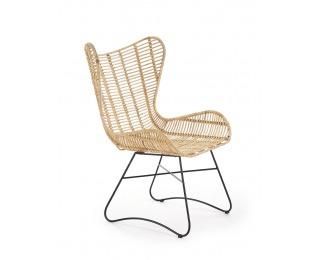Záhradná stolička Indiana - prírodná / čierna
