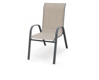 Záhradná stolička Mosler - sivá / tmavosivá
