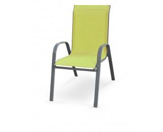 Záhradná stolička Mosler - zelená / tmavosivá