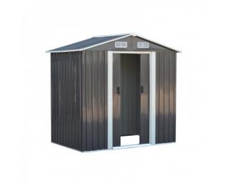 Plechový záhradný domček Toolster 125x195x197 cm - sivá