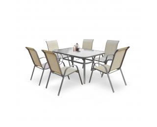 Záhradný stôl Mosler - tmavosivá