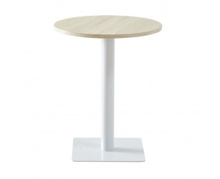 Záhradný stolík Tabit - prírodná / biela