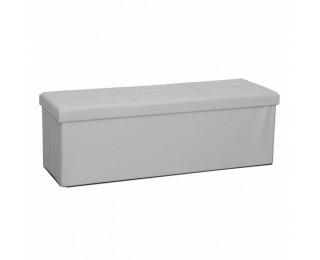 Skladacia taburetka s úložným priestorom Zamira - biela