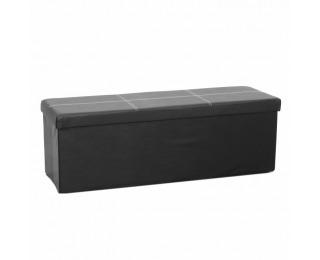 Skladacia taburetka s úložným priestorom Zamira - čierna