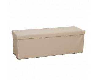 Skladacia taburetka s úložným priestorom Zamira - hnedá