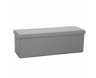 Skladacia taburetka s úložným priestorom Zamira - sivá