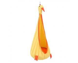 Závesné hojdacie kreslo Tolo - žltá / oranžová