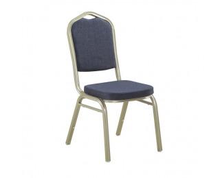 Konferenčná stolička Zina 2 New - sivá / champagne
