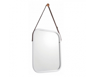 Zrkadlo na stenu Lemi 2 - biela