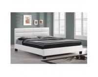 Čalúnená manželská posteľ s roštom Mikel 160 - biela
