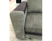 Rohová sedačka s rozkladom a úložným priestorom Bona L/P - bronzový šenil / hnedá ekokoža