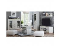 TV stolík Infinity 9 - jaseň biely