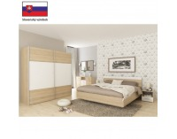 Manželská posteľ Gabriela 160 - dub sonoma / biela