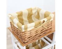 Košíková komoda Ginger 2 - biela / medová