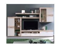 Obývacia stena Valeria - dub pieskový / biela